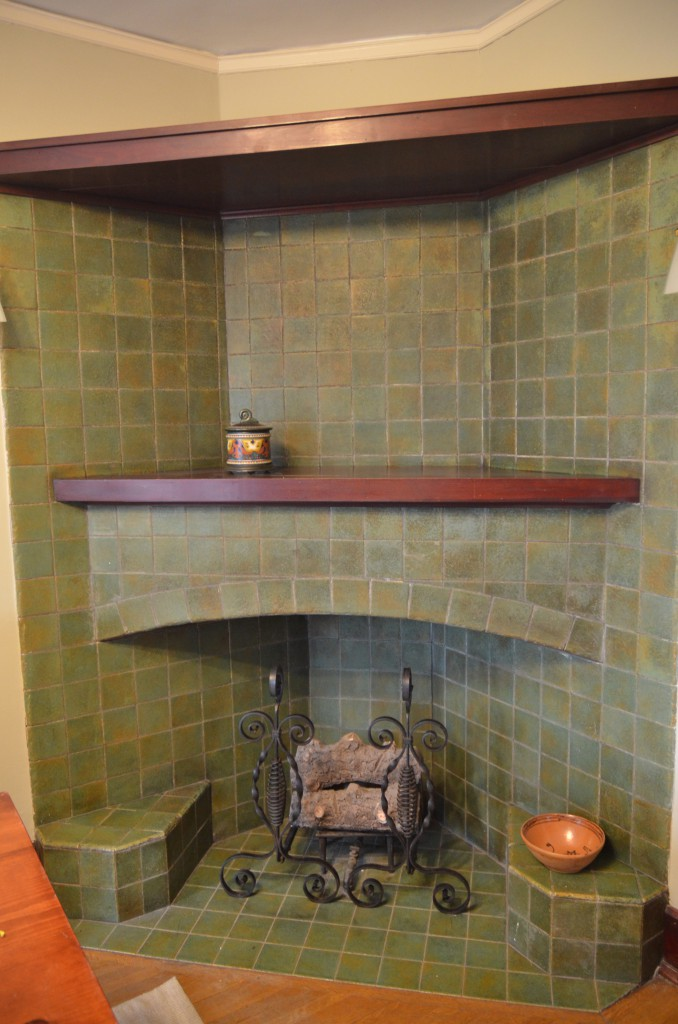 Stylish arts crafts 3962 north new jersey indianapolis for Arts and crafts fireplace tile